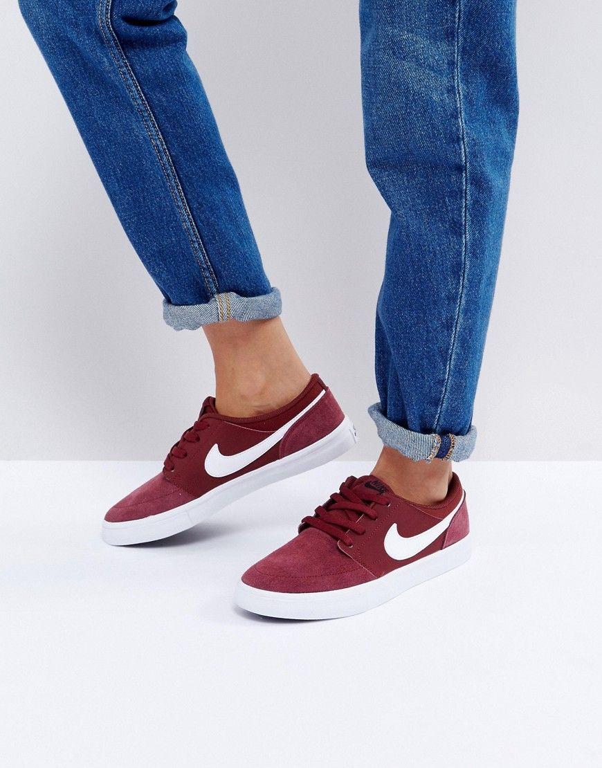 nike mujer zapatillas burdeos