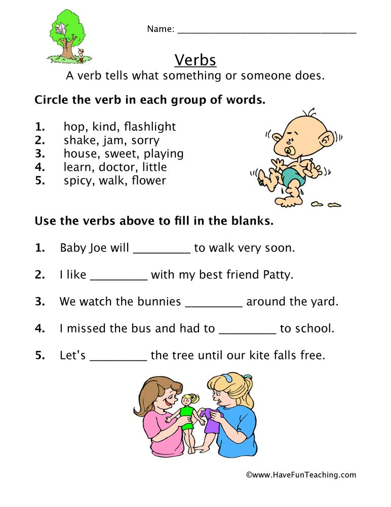 Verb Worksheets Esl Www.robertdee.org