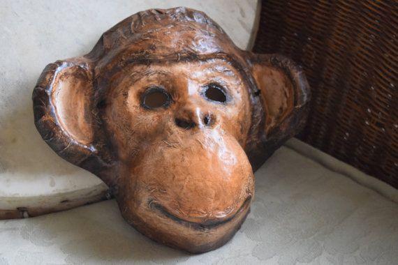 Paper Animal Masks Monkey Mask Monkey Costume Paper Mache Monkey