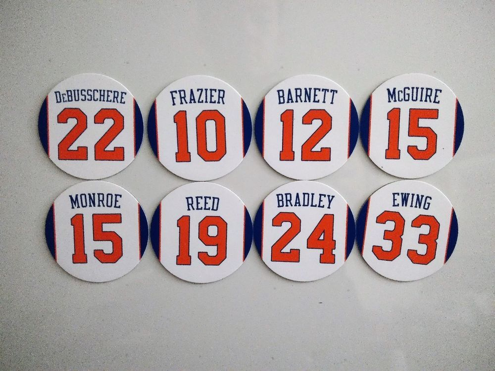 096d0a6e7 New York Knicks Magnets - Jersey Design Round Magnet - Retired Numbers -  Pick -