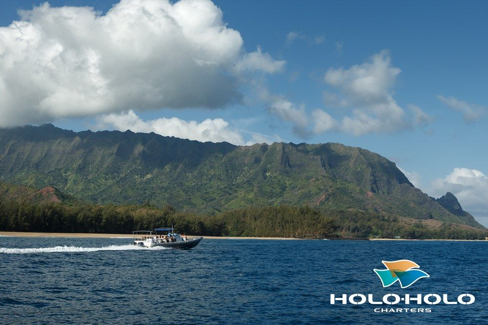 Cruising Past The Bali Hai Mountains Along The Hanalei Bay