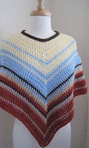 Ravelry Easy Crochet Poncho Pattern By Kathy North Free Crochet