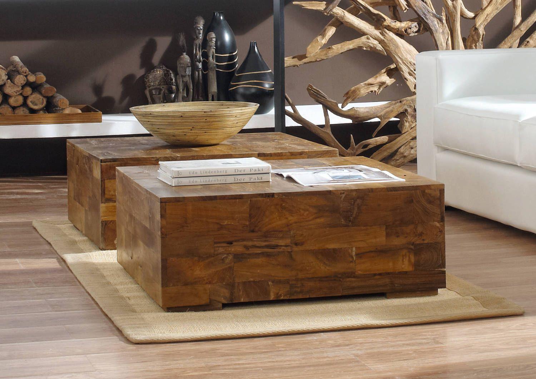 Driftwood Treibholz Teakholz Couchtisch Massiv Teak