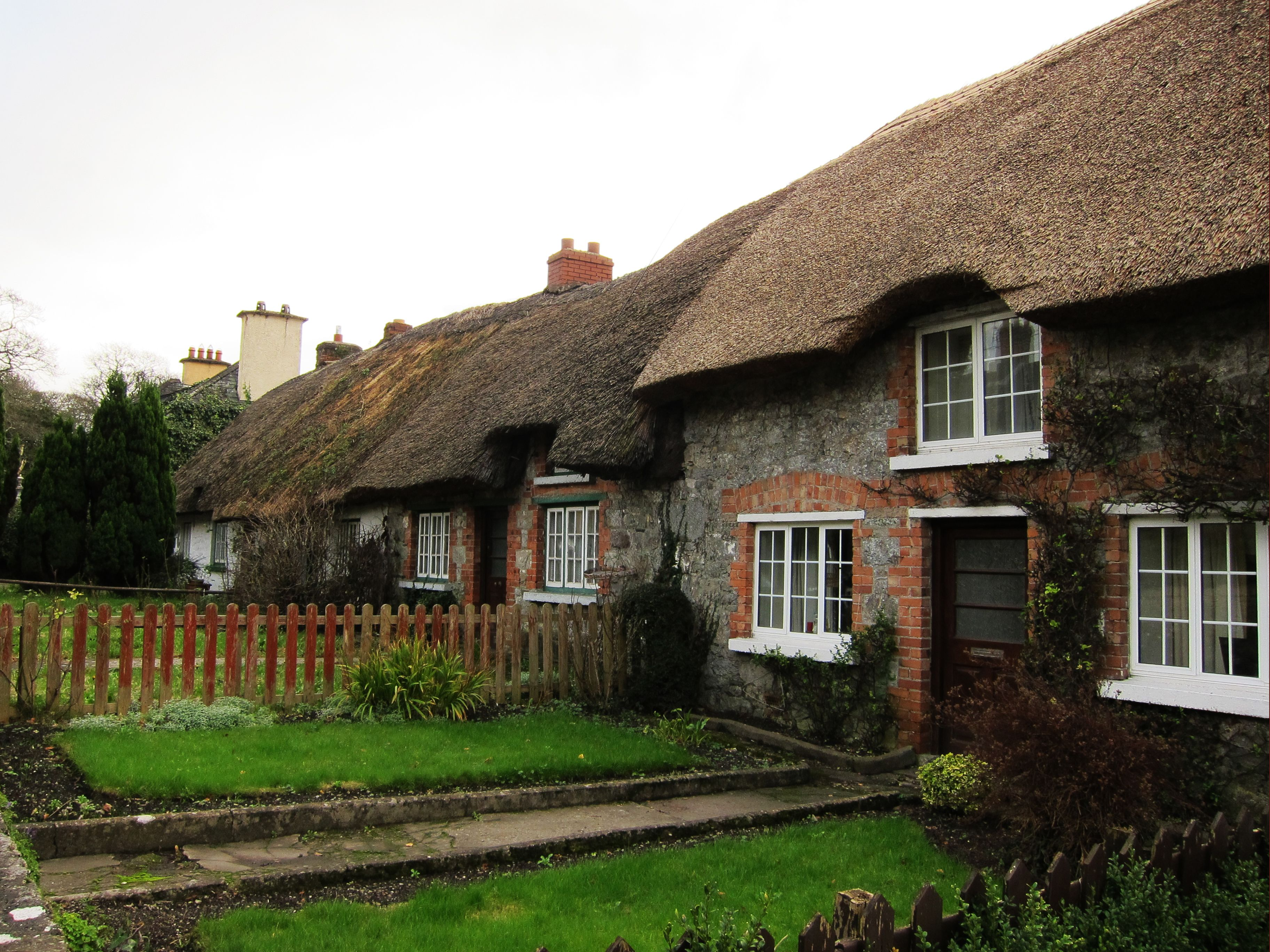 Irish thatched houses