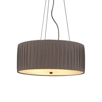 LBL Lighting Cato 4-Light Bronze Gray Suspension Fluorescent Hanging Chandelier