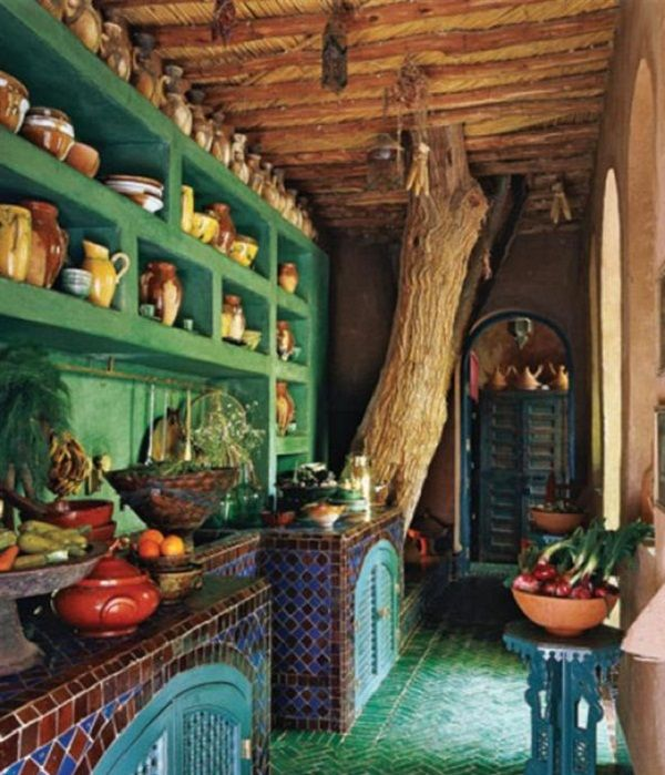 Moroccan Home Decor Ideas With Modern Color Block Theme Moroccan Home Decor Ideas Ethnic Counters Moroccan Kitchenbohemian