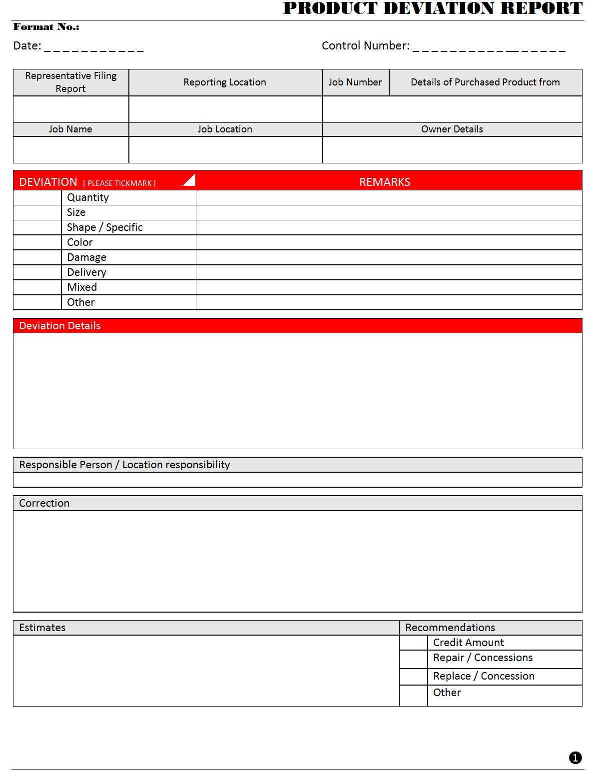 The Extraordinary Product Deviation Report Intended For Deviation Report Template Digital Photography Below In 2020 Report Template Professional Templates Templates
