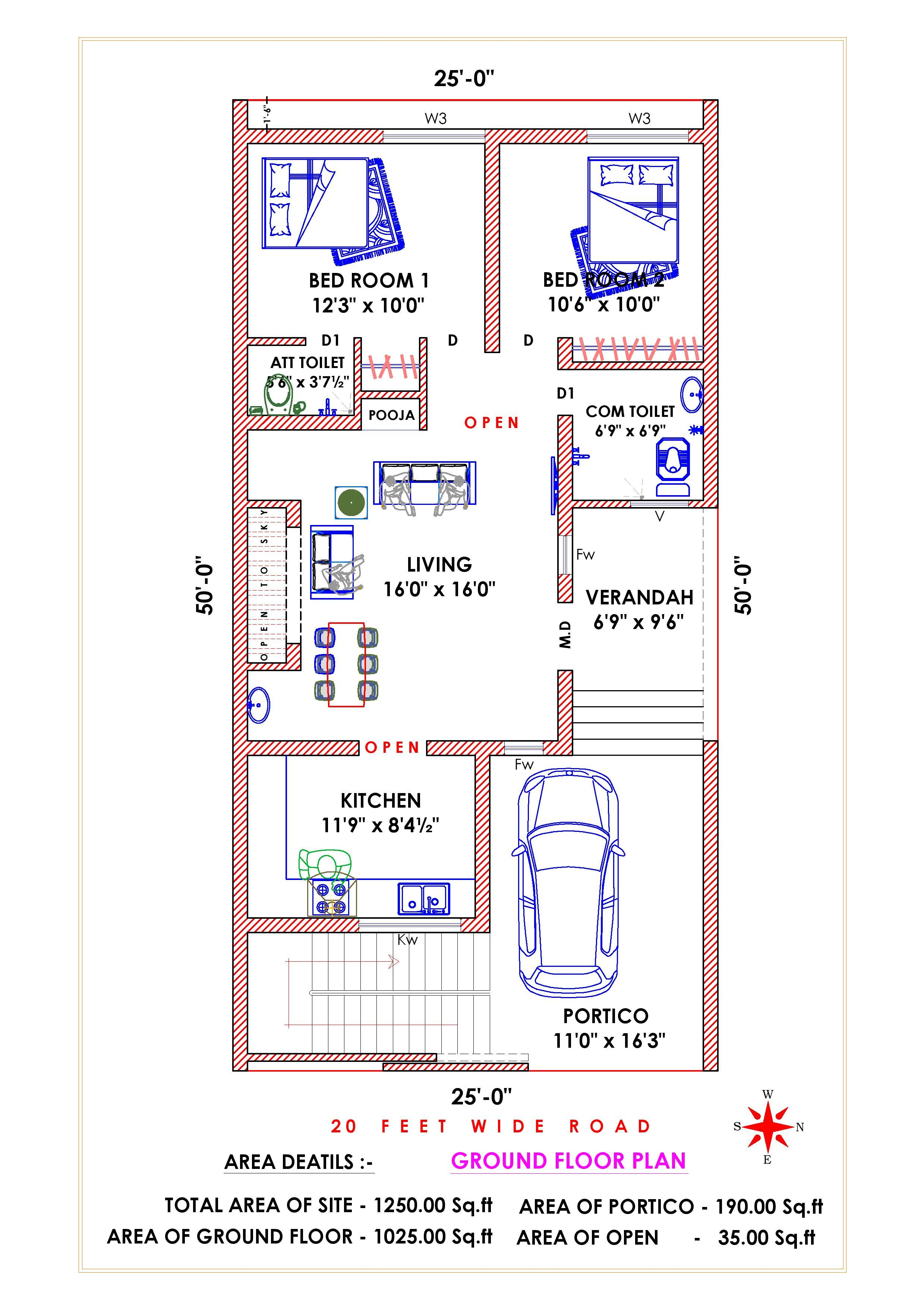 East Facing Vastu Concept 2bhk House Plan 20x40 House Plans Indian House Plans