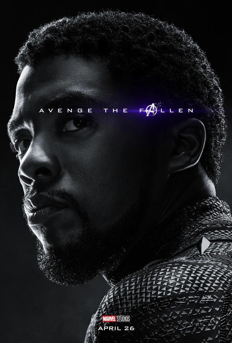 Avengers: Endgame 2019 Character Poster Black Panther Avenge the Fallen poster Marvel comic movie quality print Avengers 4