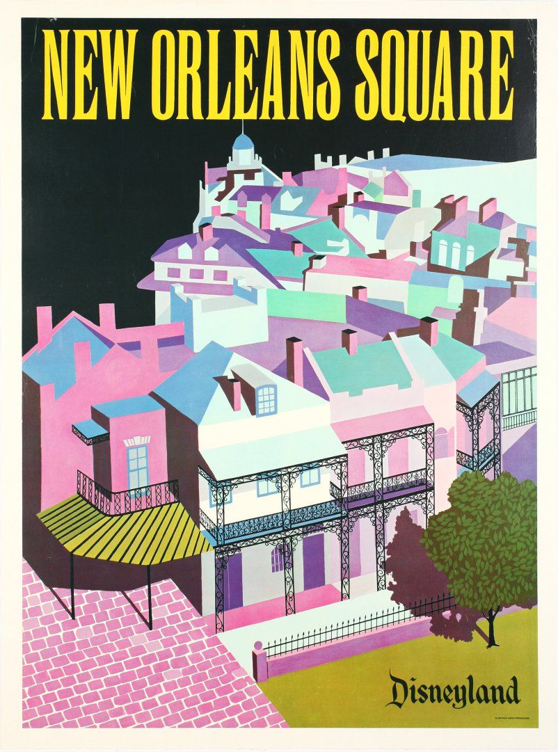 See Gorgeous Vintage Disneyland Posters From The Park S Early Years Vintage Disneyland Disneyland Disney Attractions