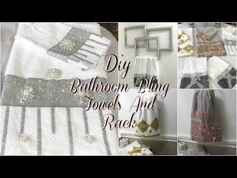 48 Bathroom Decor Ideas Diy Glam Decorative Towels Diy Dollar Tree Bathroom Towel Holder Youtube 492299803018385344 In 2020 Diy Bathroom Decor Decorative Towels Diy Home Decor