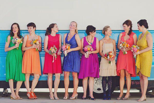 1000  ideas about Rainbow Bridesmaids on Pinterest - Rainbow ...