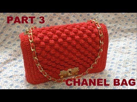 How to Crochet Bag CHANEL part 3 - Hướng dẫn móc túi xách CHANEL P3 -  YouTube 199f4841c85