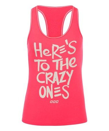 Another great find on #zulily! Funky Pink Be A Crazy One Tank #zulilyfinds