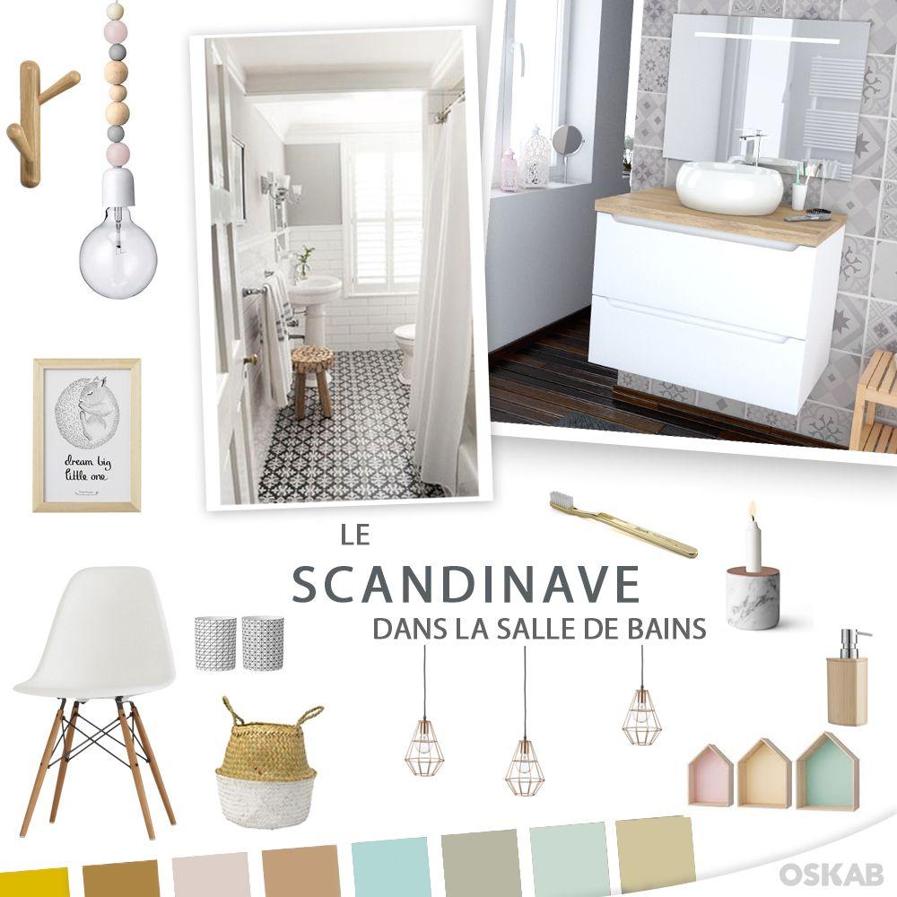 d couvrez notre planche de tendance sur le style scandinave pour recr er dans votre salle de. Black Bedroom Furniture Sets. Home Design Ideas
