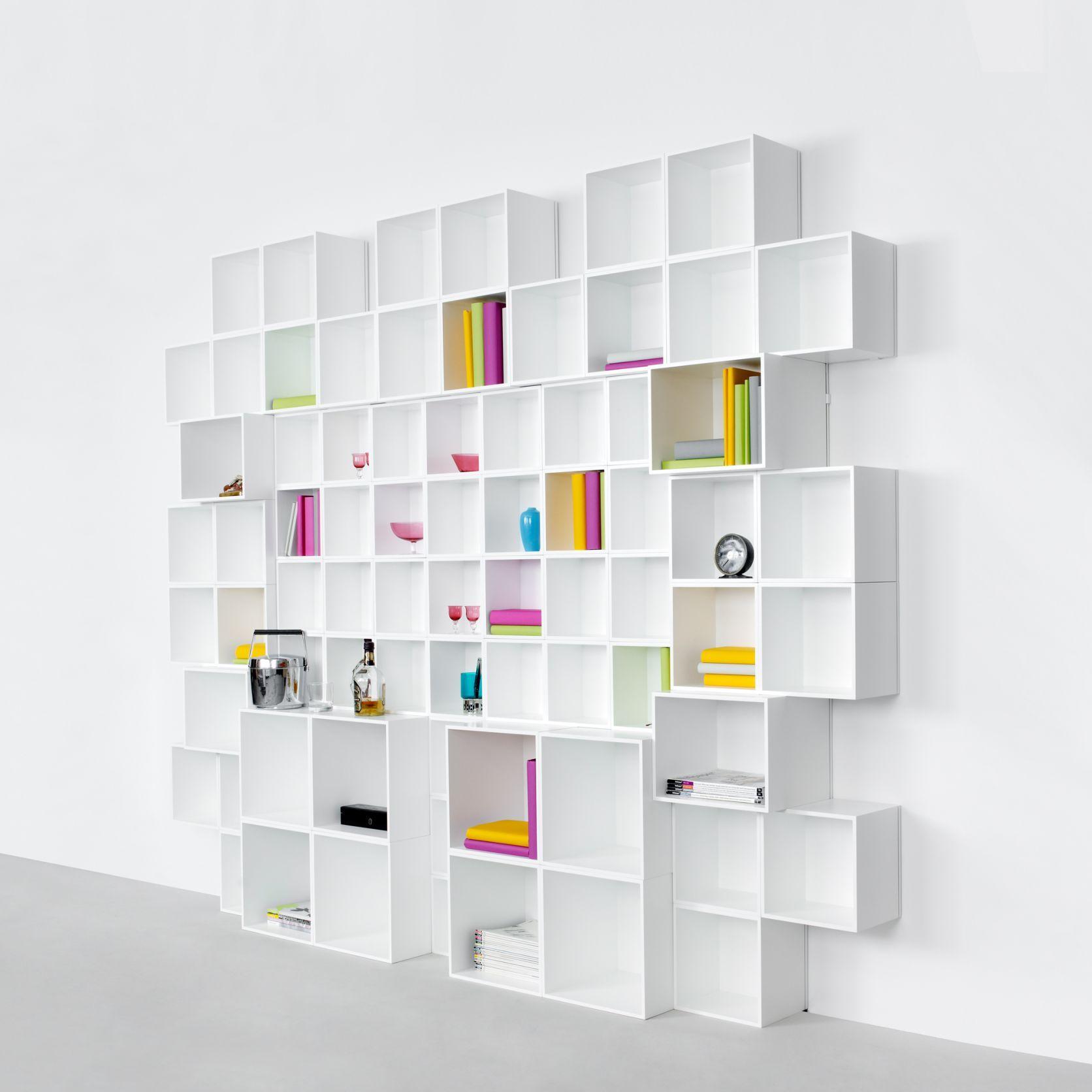 Etagere Et Bibliotheque Modulable Avec Cubes De Rangement Etageres Modulables Cube Rangement Rangement Modulaire