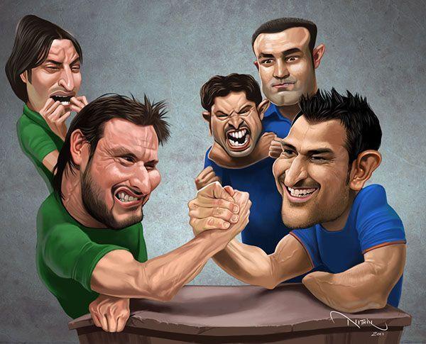Celebrities caricature - funny photo