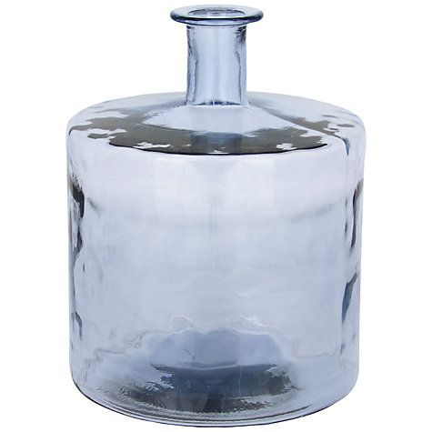 Buy John Lewis Croft Collection Recycled Glass Vase Blue Height