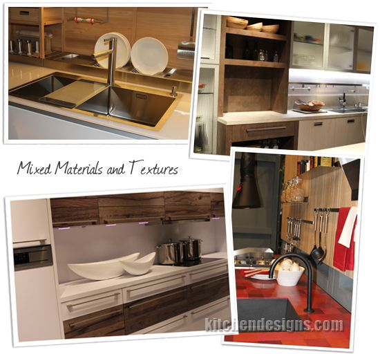 Kitchen Design Trends EuroCucina Kitchen Designs By Ken Kelly Mixed  Materials And Textures