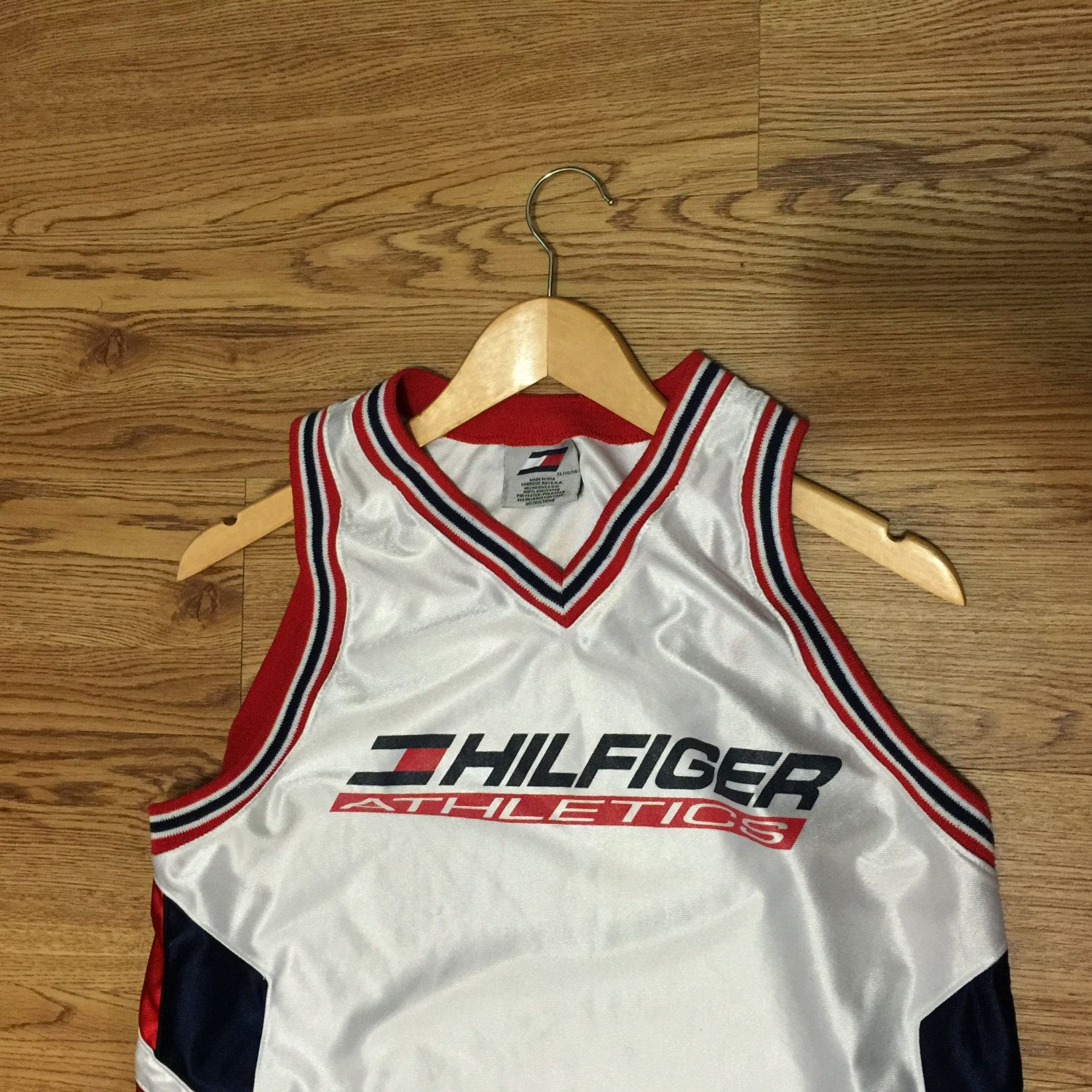 Vintage Tommy Hilfiger Athletics Basketball Jersey by VNTGvault on Etsy 7d2ff3934