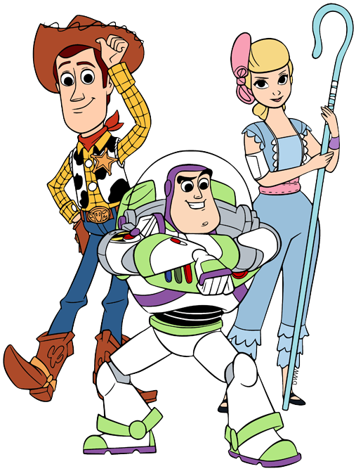 Clip Art Of Woody Buzz Lightyear And Bo Peep From Toy Story 4 Disney Pixar Toystory4 Woody Bope Toy Story Characters Woody Toy Story Toy Story Quotes