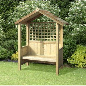 Artemis Arbour Sheltered Wooden Bench Seat Wants For The