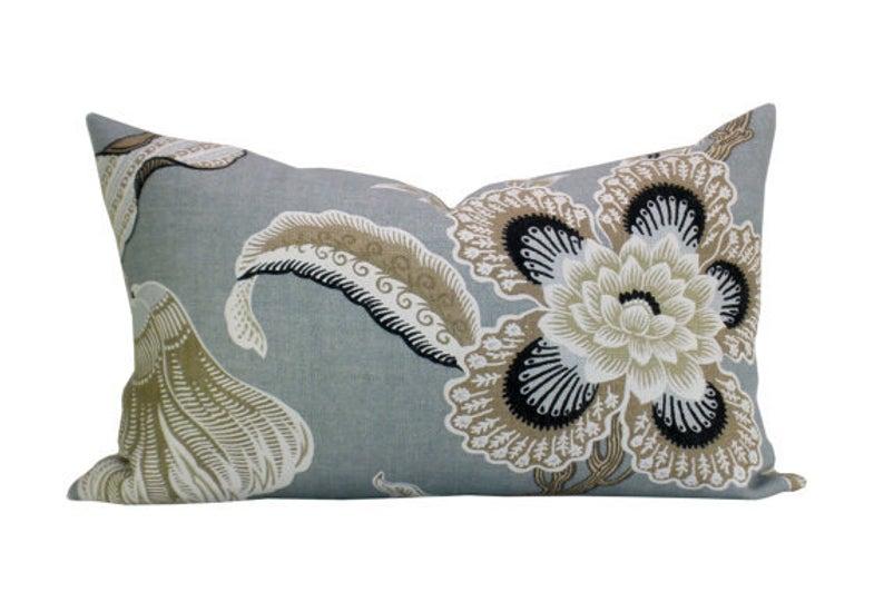 Pillow Cover Hothouse Flowers Mineral Lumbar Floral Spark Etsy Lumbar Pillow Cover Pillow Covers Pillows