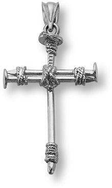 Applesofgold cross of nails pendant 14k white gold christian applesofgold cross of nails pendant 14k white gold christian jewelry 19900 aloadofball Choice Image