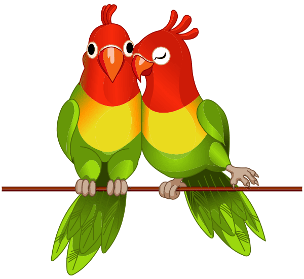 These Two Love Birds Have A Lot Of Sweetness To Share With Your Friends On Facebook Animal Symbolism Cute Animals Symbols Emoticons