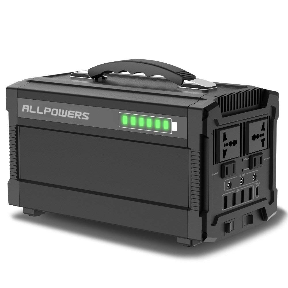 Allpowers 288wh Portable Generator Power Inverter Powerpro Rechargeable Lithium Battery Pack Quiet Portable Solar Generator Portable Generator Emergency Power