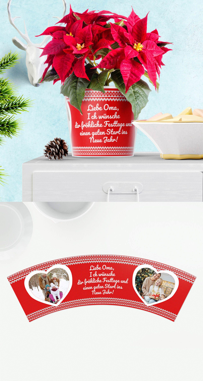 Weihnachtsgrüße Pullover Topf 🎁🎅 Blumentopf Weihnachtsgeschenk für ...