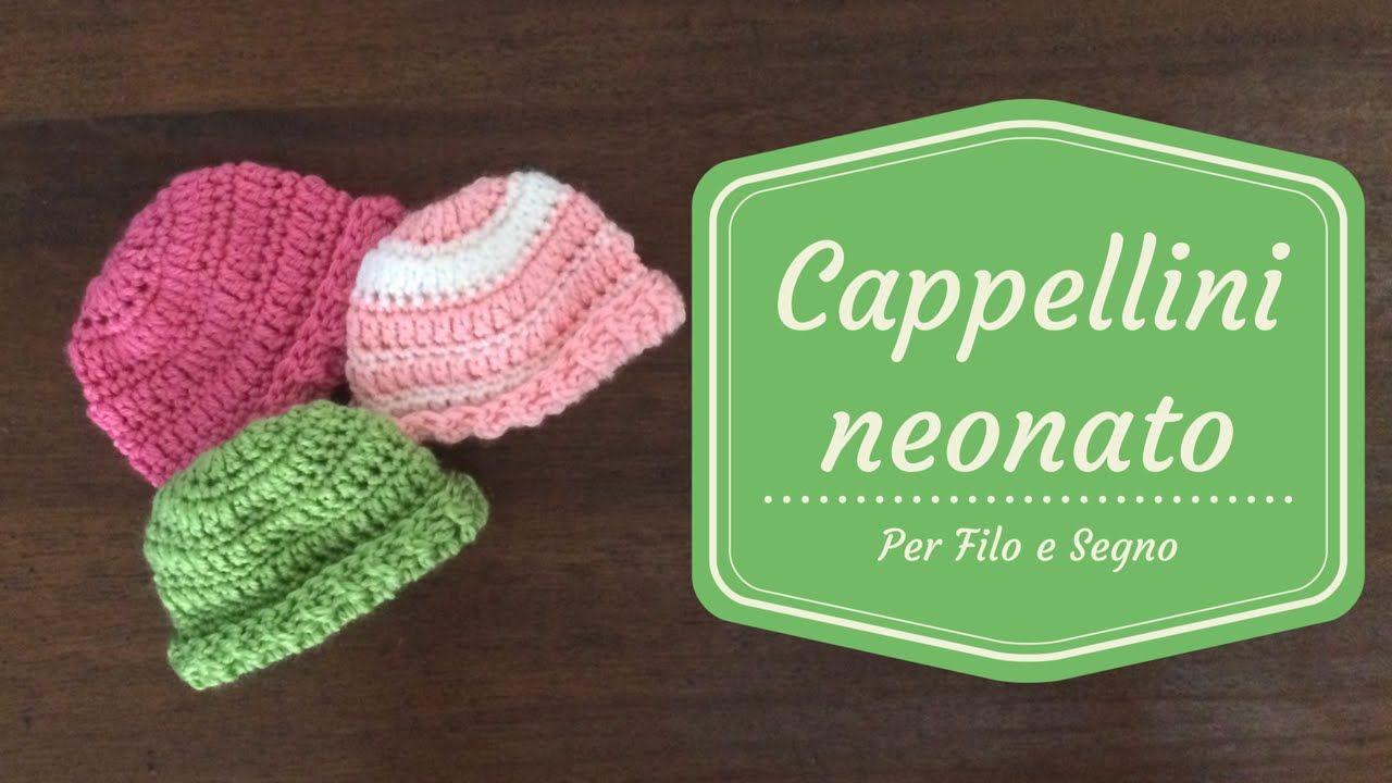 Oggi realizziamo dei facilissimi cappellini da neonato. Ringrazio RED HEART  per avermi dato il permesso di realizzare in italiano il video tutorial. 684c83b7c85d