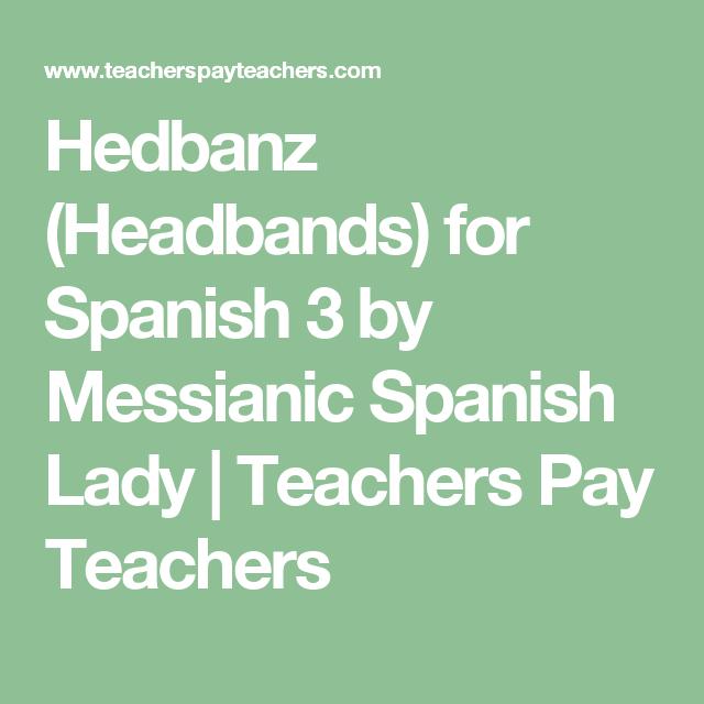 Hedbanz Headbands For Spanish 3 Club De Espaol Pinterest