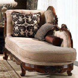 Homey Design Brown Chaise HD-462-CHAISE - Homey Design Brown Chaise
