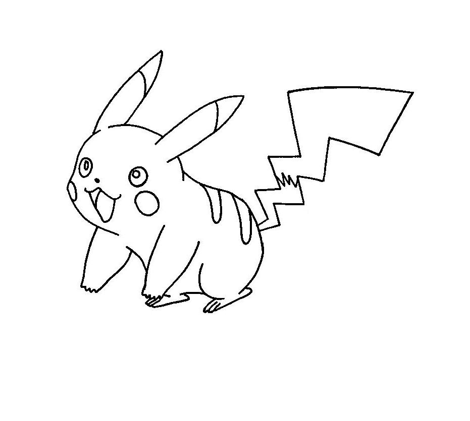 Pokemon Pikachu Happy Pokemon Coloring Pages Pokemon