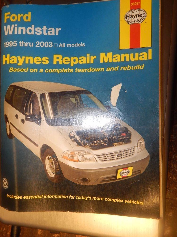 haynes ford windstar 1995 2003 all models repair manual book car rh pinterest com 95 Ford Windstar Manual Ford Windstar Repair Manual