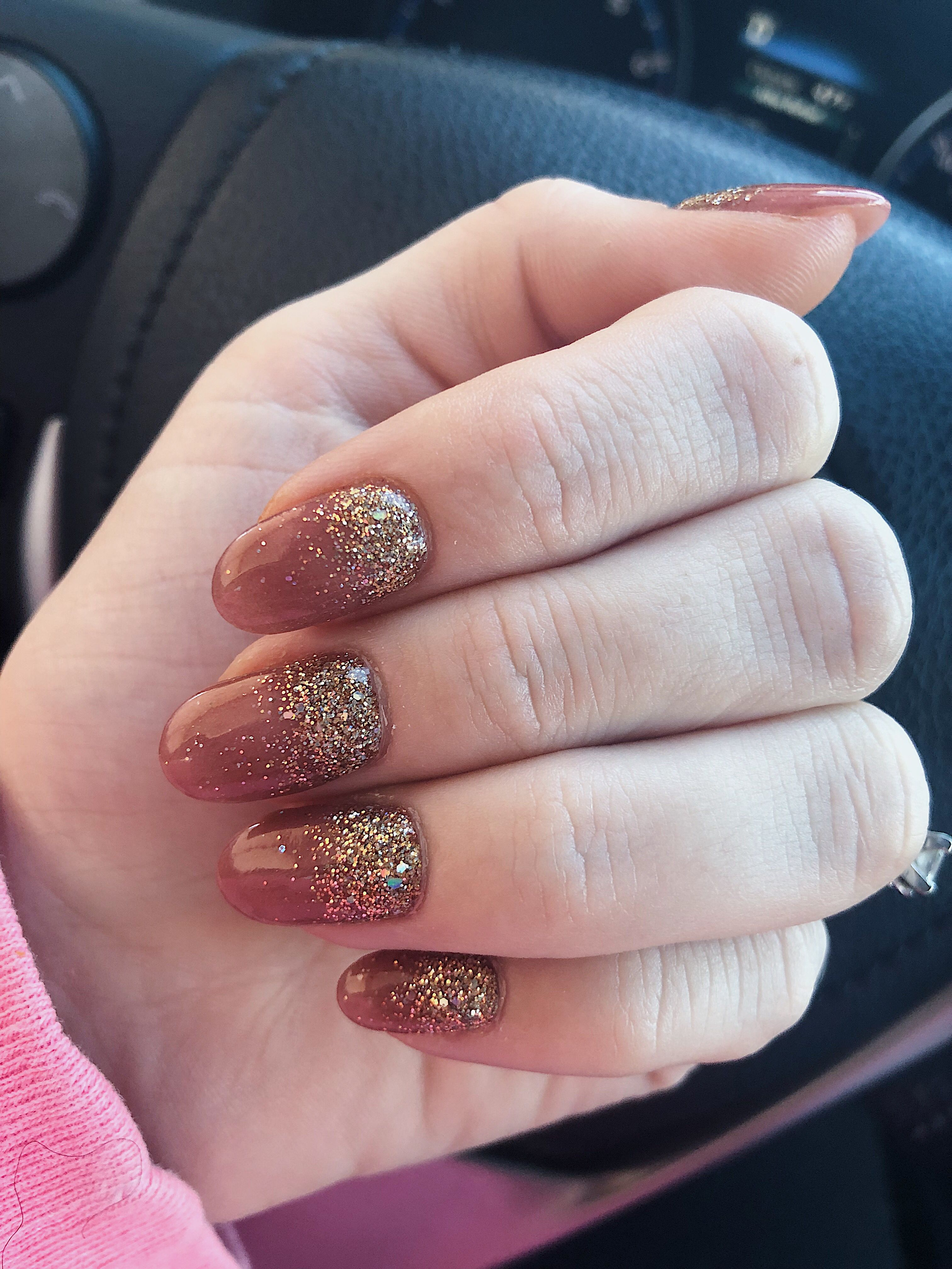 Fall Ombre Nails Ombre Nails Glitter Gold Glitter Nails Ombre Nails
