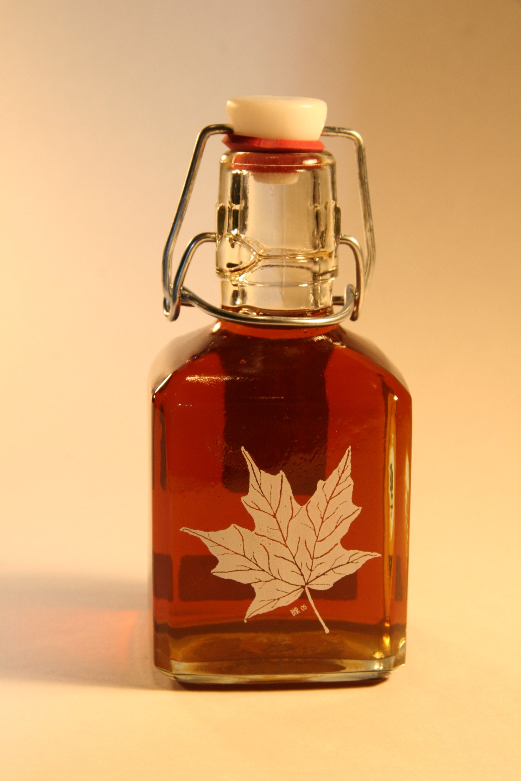 Shadow Hill Maple Syrup, Ontario, NY - logo/image directly on bottle
