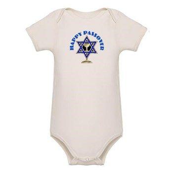 ece40eec Jewish Star Passover Baby Bodysuit (Organic) | Jewish Passover ...