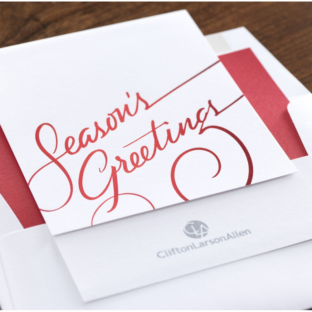 Season\'s Greetings Corporate Holiday Card by Checkerboard Ltd ...