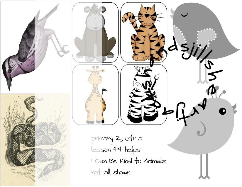 Lesson 44 Primary 2 Choose the Right, I can be kind to animals, FHE