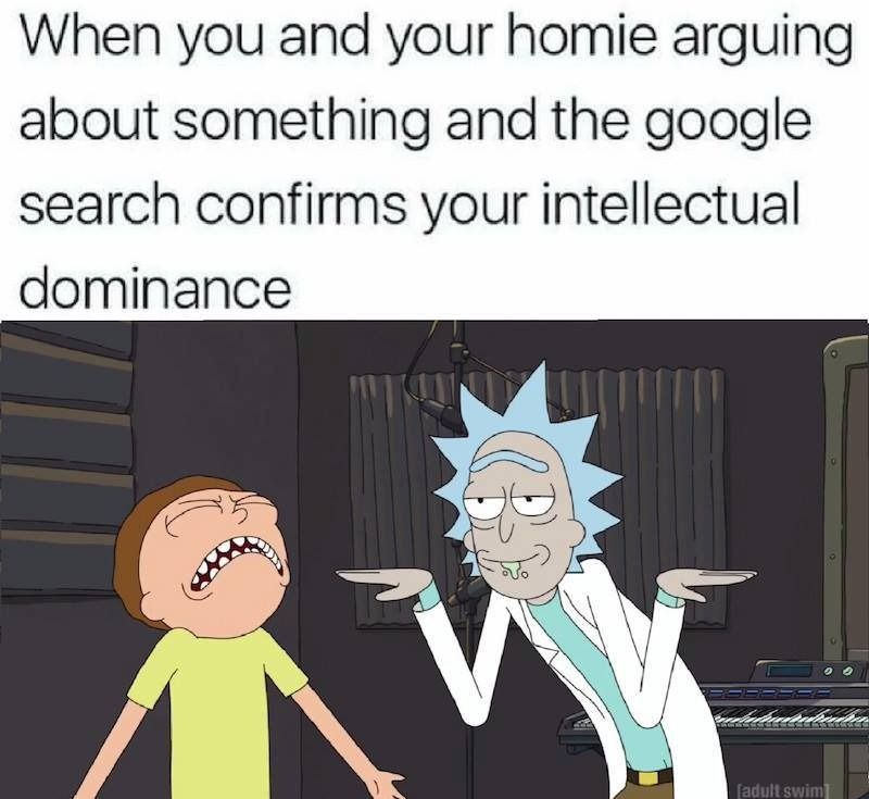 63225baea402e3610aace1ffcc4b8db2 the feeling when you're right, highlighted by rick and morty rick
