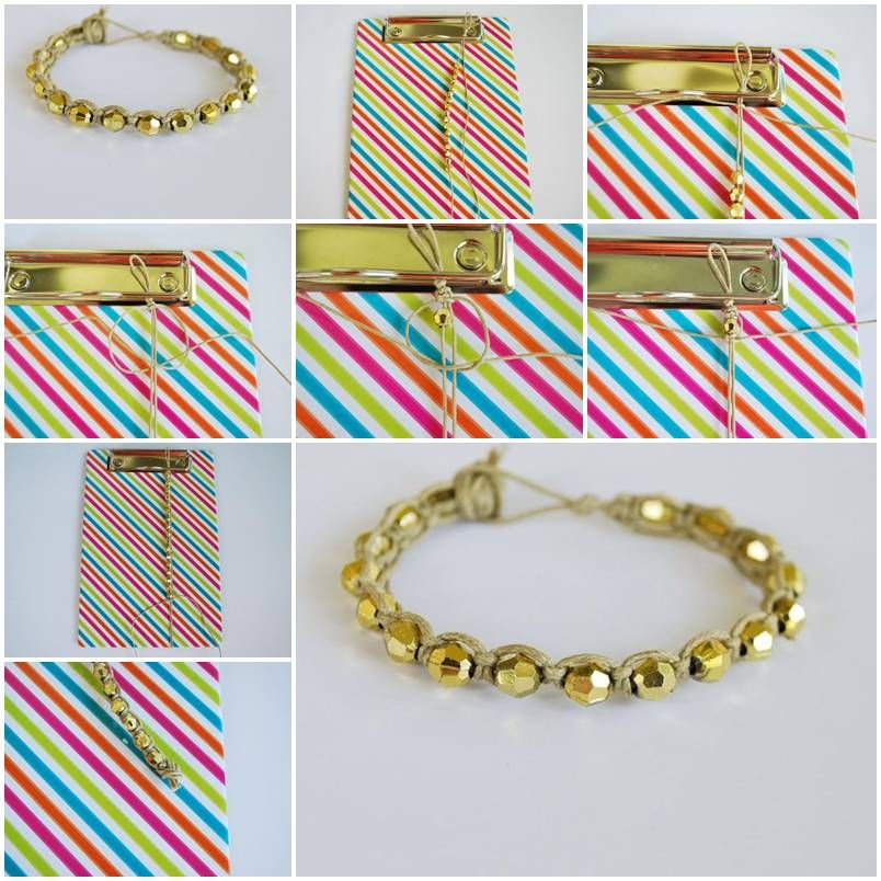 How to make gold beads wristband diy tutorial instructions how to how to make gold beads wristband diy tutorial instructions how to how to do diy instructions crafts do it yourself diy website art project ideas solutioingenieria Gallery