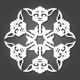 If It's Hip, It's Here: It's Snowing Star Wars! 10 new DIY Star Wars Paper Snowflake Templates for 2011.