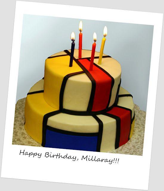 Mondrian cake Mondrian Fetish Pinterest Mondrian Cake and