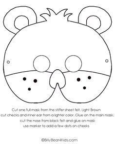 Preschool teddy bear activities teddy bear craft felt bear preschool teddy bear activities teddy bear craft felt bear mask billybear4kids pronofoot35fo Gallery