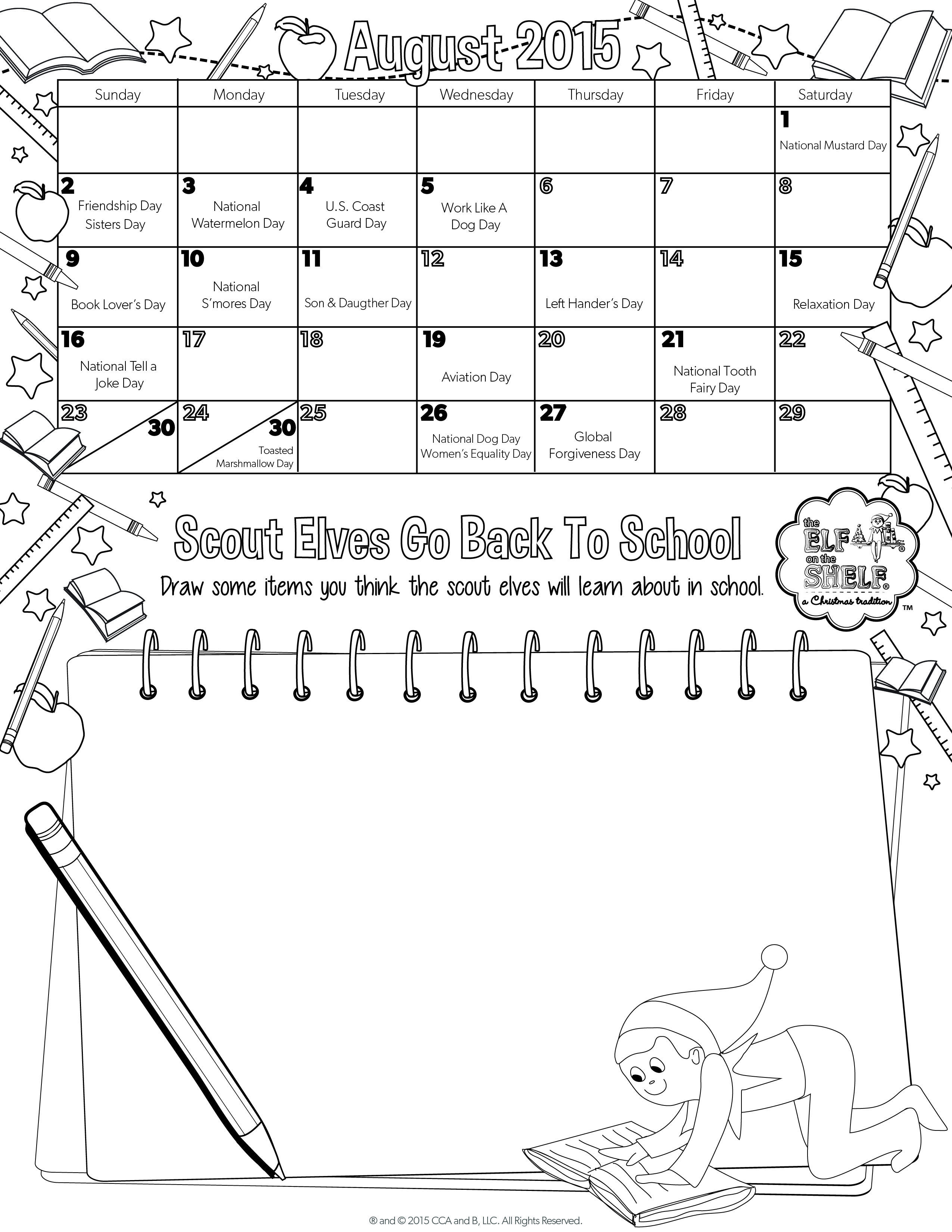 Happy August, friends! | Printable August calendar for kids | The ...