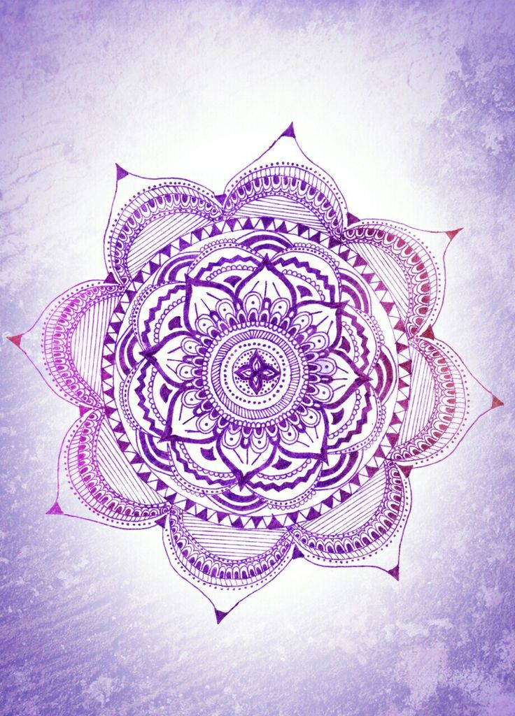 Purple Flower Henna Wallpaper Wallpapers