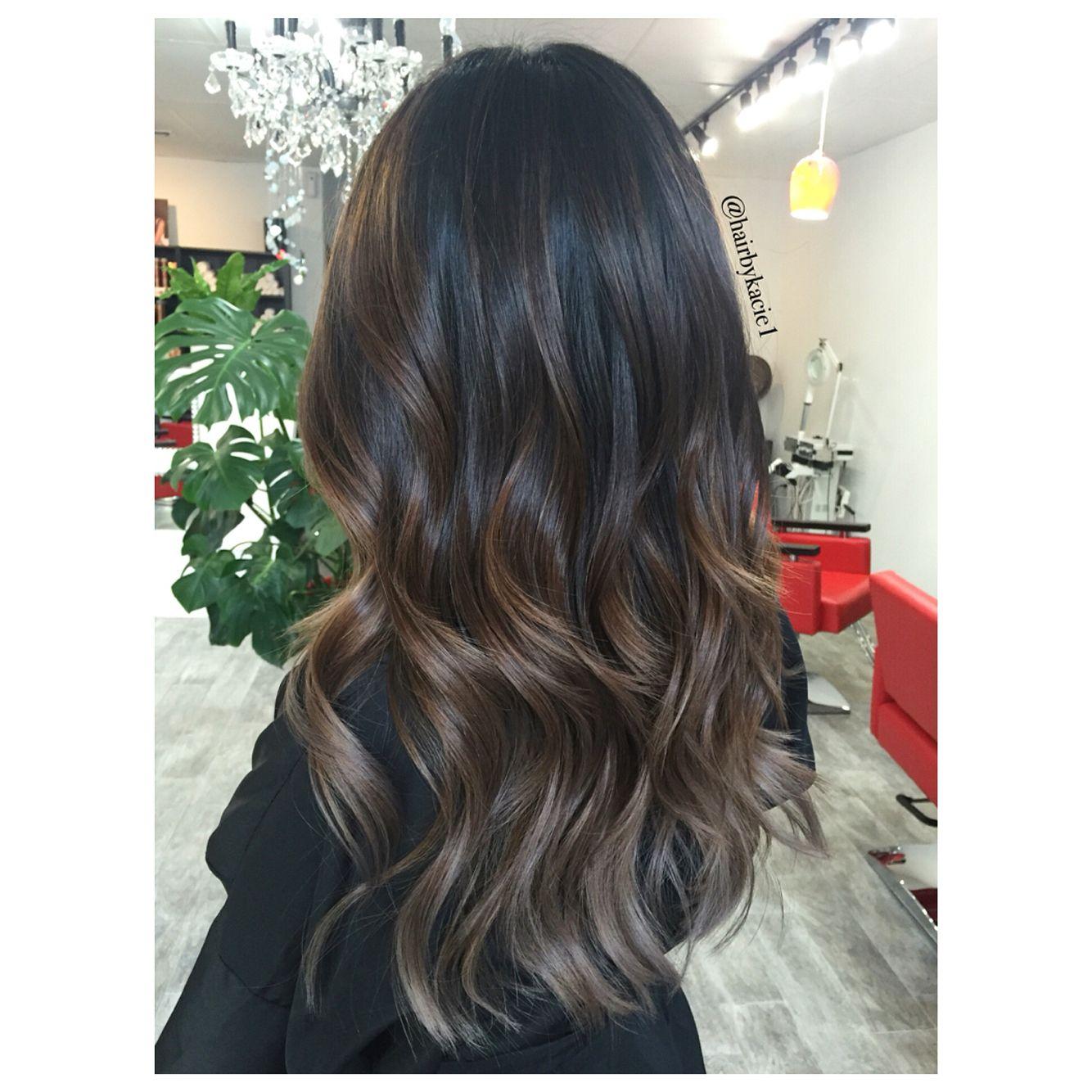 Ash Brown Black Hair Balayage Brown Hair Balayage Hair Styles