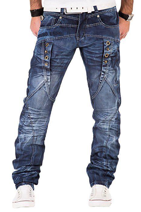 Kosmo Lupo K M 090 Designer Herren Jeans Hose Clubwear Style Blau  Verwaschen W29-W38   5ddcf379e5